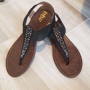 Sparkly Black Sandals